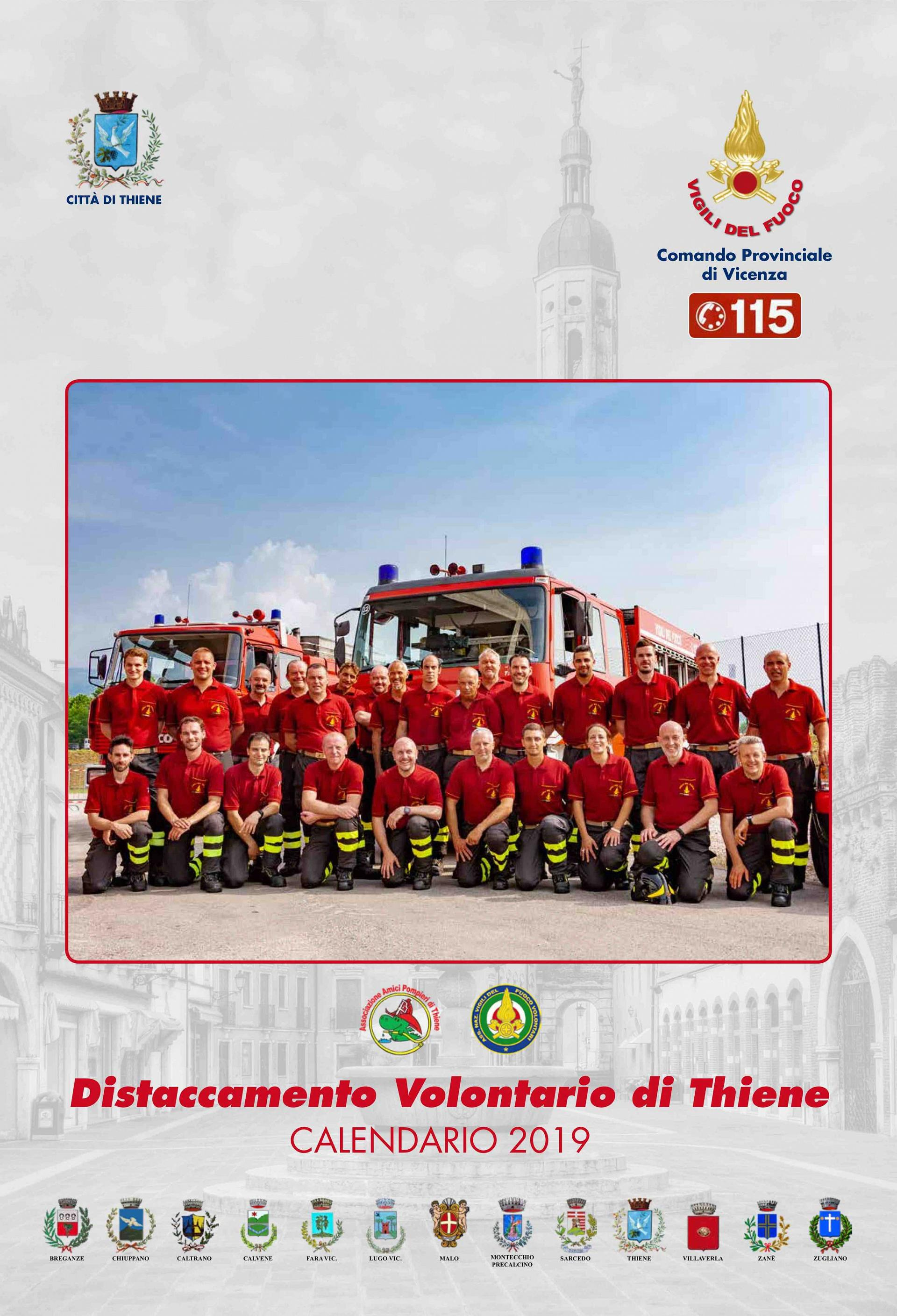 Calendario Vicenza.Vigili Del Fuoco Distaccamento Volontario Di Thiene
