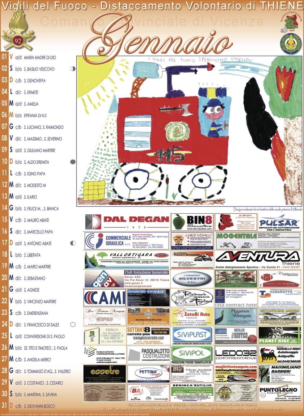 Calendario Giuliano Conversione.Vigili Del Fuoco Distaccamento Volontario Di Thiene